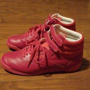Reebok Pink Freestyle Hi Sneakers